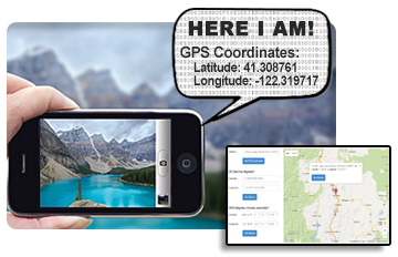 Camera Phones can share your exact location!